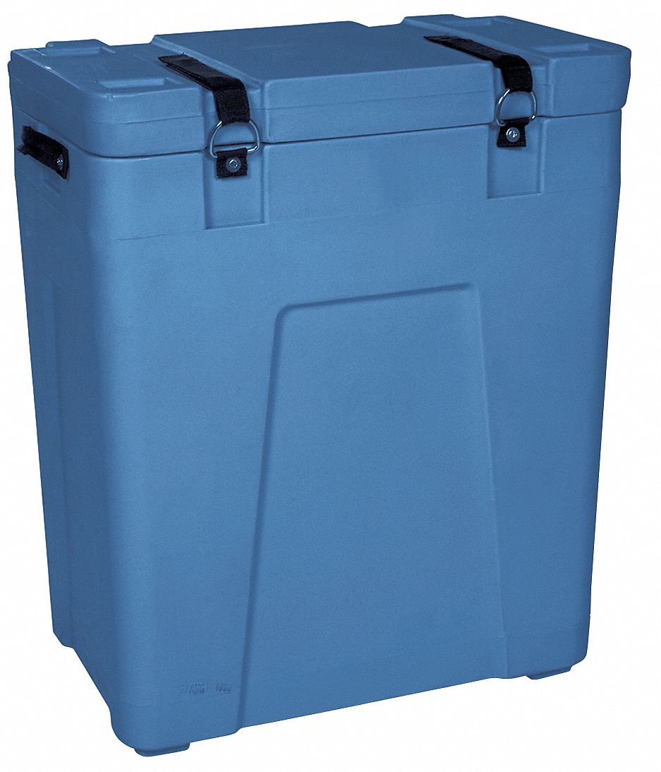 Dry Ice Transport Cooler, 5 cu ft, Blue Plastic