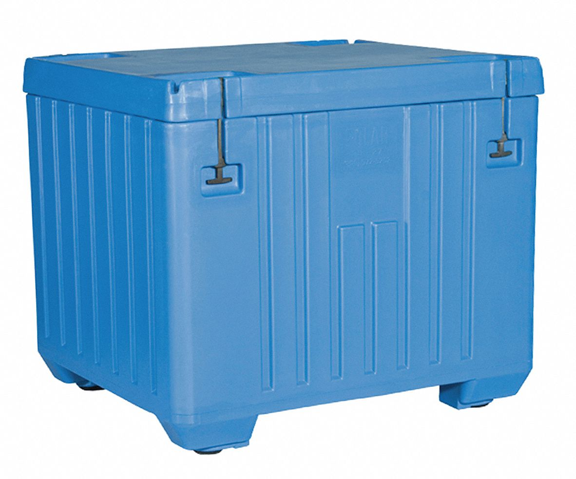 Dry Ice Transport Cooler, 30 cu ft, Blue Plastic
