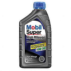 Mobil Super High Mileage 10W-30, 1 qt.