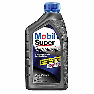 Mobil Super High Mileage 10W-40, 1 qt.