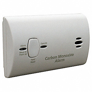 Carbon Monoxide Alarm with 85dB @ 10 ft. Audible Alert&#x3b; (2) AA