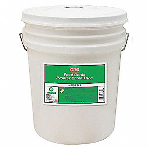 Chain and Cable Lubricant, 5 gal. Pail, Mineral Oil Chemical Base, Clear Color