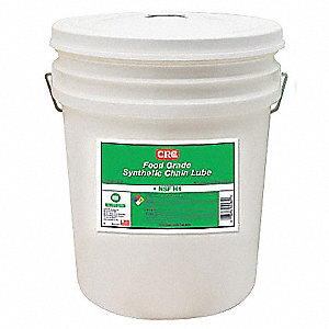 Chain and Cable Lubricant, 5 gal. Pail, Polyalphaolefin Chemical Base, Clear Color