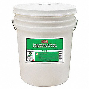Chain and Cable Lubricant, 5 gal. Pail, Ester Chemical Base, White Color