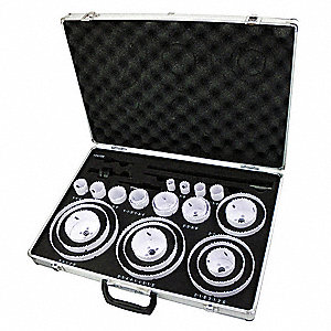 "30-Piece Hole Saw Kit for Metal, Range of Saw Sizes: 3/4"" to 6"""
