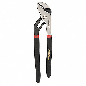 Tongue and Groove Pliers, Serrated Jaw Type, Groove Joint Adjustment Type, Ergonomic Handle Type