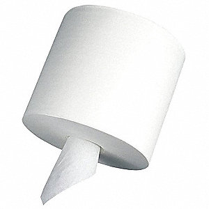 1000 ft. 1-Ply Paper Towel Roll, White&#x3b; PK6