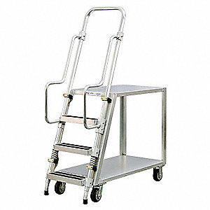 Stock Picking Ladder Cart, 800 lb. Load Capacity
