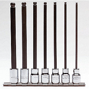 SET HEX BIT BALL DR 7 PC
