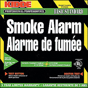 SMOKE ALARM AC-120V-TEST BUTTON