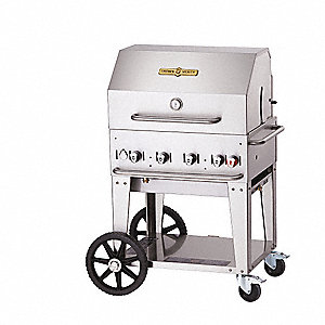 64500 BtuH Stainless Steel Gas Grill with One 20 lb. Tank