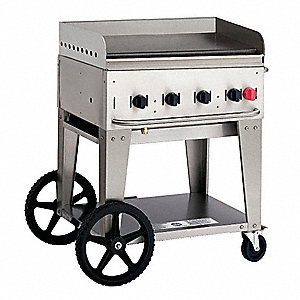"38"" x 28"" x 36"" 4 Burners Portable Gas Griddle"