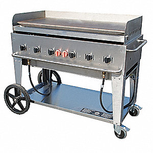 "56"" x 28"" x 36"" 6 Burners Portable Gas Griddle"
