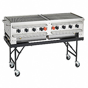 Portable Gas Grill,BtuH 99000