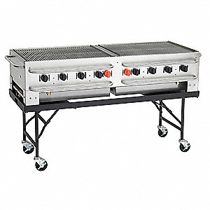 Portable Gas Grill,BtuH 129000