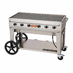 99000 BtuH Stainless Steel Gas Grill with 40-lb. Propane Tank or Larger
