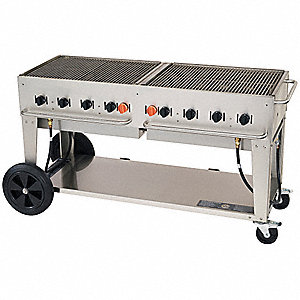 129000 BtuH Stainless Steel Gas Grill with Two 20-lb. Propane Tanks