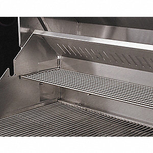 "48"" x 9-1/4"" x 1/2"" Stainless Steel Adjustable Warming Rack"