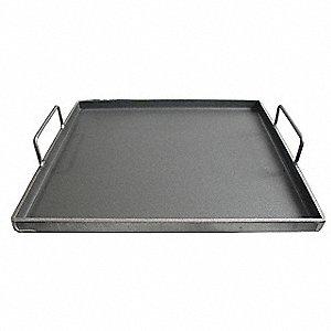 "21-3/4"" x 20-1/2"" x 2"" Carbon Steel Removable Griddle Plate"