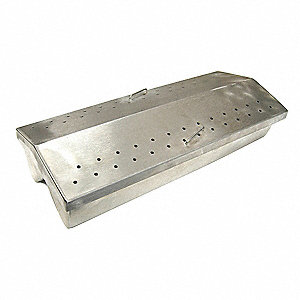 "4-1/2"" x 11 x 2-1/2"" Stainless Steel Grill Smoker Box"