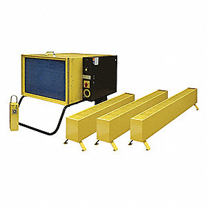 Thermal Area Treatment Heater, 12.9 kW, Base Unit Volts 208, Perimeter Heater Volts 120, 1 Phase