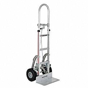Brake Hand Truck, Dual Grip, 500 lb. Overall Height 60""