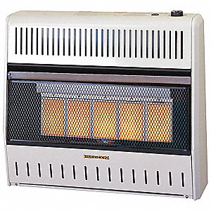 "10"" x 28-1/2"" x 25-3/4"" Infrared Vent Free Portable Gas Heater with 1000 sq. ft. Heating Area"