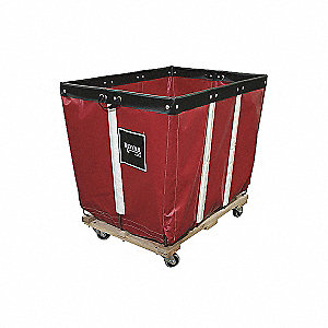 Basket Truck,10 Bu. Cap.,Blue,36 In. L