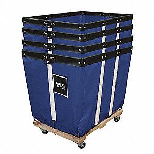 Basket Truck,16 Bu. Cap.,Blue,40 In. L