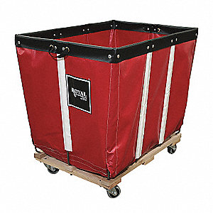Basket Truck,20 Bu. Cap.,Red,48 In. L