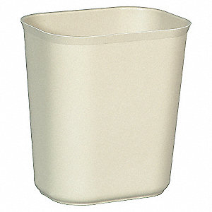 WASTEBASKET FIRE RESIST 7QT BEIGE