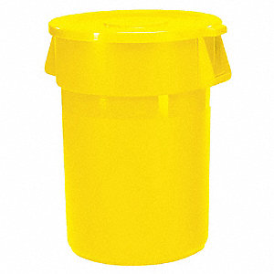 CONTAINER 35GAL 44USG YELLOW
