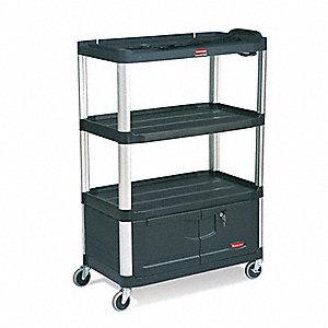 """A/V Cart,300 lbs.,36-1/2""""x20""""x48-1/8"""""""