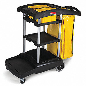 "Janitors Cart,49-3/4""x21-3/4""x38-3/8"""