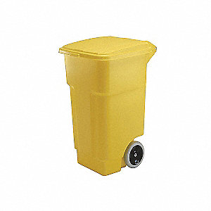 CONTAINER REFUSE 50GAL YELLOW