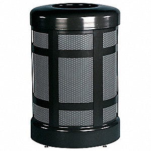 CONTAINER WASTE 38GAL TOP OPN BLK