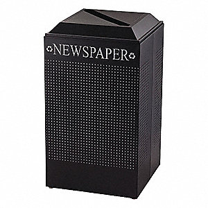 RECEPTACLE 29 GAL FOR PAPER BLACK