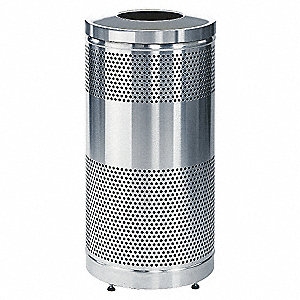 CONTAINER 25GAL W/PLAST LINER S/S