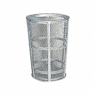 Basket Trash 48 Gallon Galv