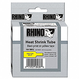 TUBE SHRINK HEAT YELLOW 3/4IN