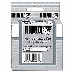 TAG NON-ADHESIVE WHITE 1/4IN