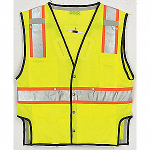 Fall Protection Vest,2XL/3XL,Lime