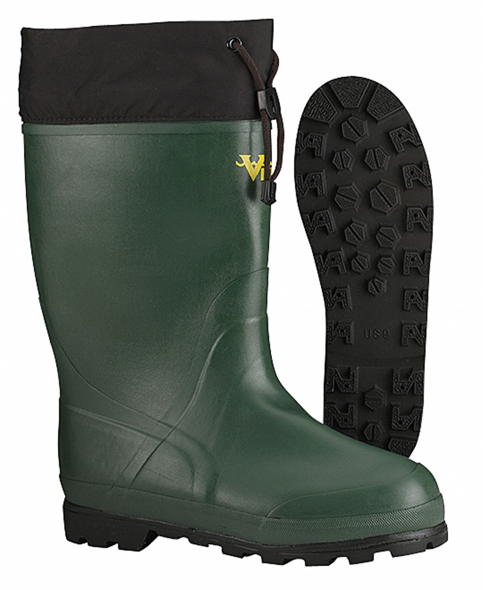 Plain-toe Pvc And Rubber Boots