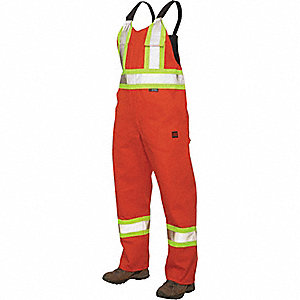 CSA TRAFFIC UNLINED BIB OVERALLS