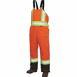 CSA TRAFFIC INSULATED BIB OVERALLS