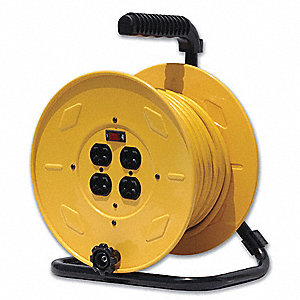 REEL HAND CRANK 4 OUTLET W/CABLE