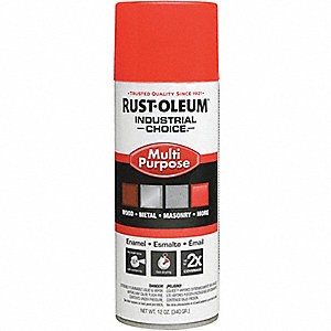 PAINT AEROSOL FL RED-ORG 12OZ CAN