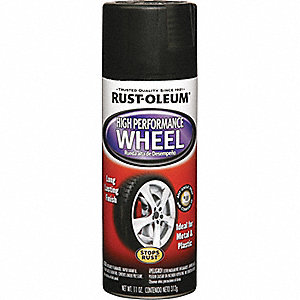 WHEEL COATING 11 OZ. FLAT BLACK