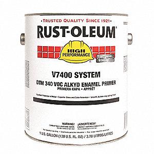 RUST-OLEUM ALKYD PRIMER,GRAY, 340 VOC,1 GAL  - Paint Primer, Sealers