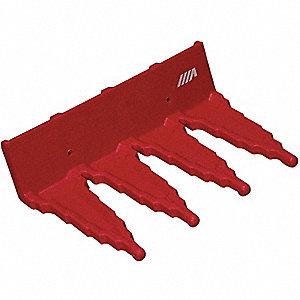 TOOL HANGER/WALL BRCKT RED PLASTIC